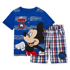 Disney by Okie Dokie 2-pc. Mickey Mouse Short Set Boys