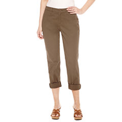 St. John's Bay Twill Flat Front Pants
