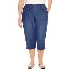 Alfred Dunner Denim Capri Cropped Pants-Plus (19