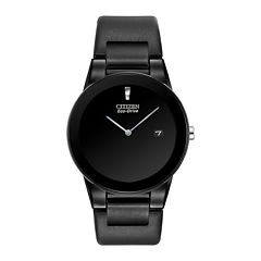 Citizen® Eco-Drive® Axiom Mens Black Leather Strap Watch AU1065-07E