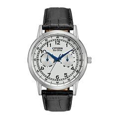 Citizen® Eco-Drive® Mens Silver-Tone  Watch AO9000-06B