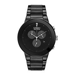 Citizen® Eco-Drive® Axiom Mens Black Chronograph Watch AT2245-57E