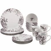 BonJour® Shaded Garden 16-pc. Dinnerware Set