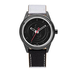 Smile Solar Black and White Strap Sports Watch