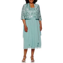 R&M Richards 3/4-Sleeve Lace Jacket Dress - Plus