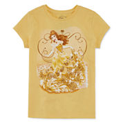 Disney Short-Sleeve Belle Graphic Tee - Girls