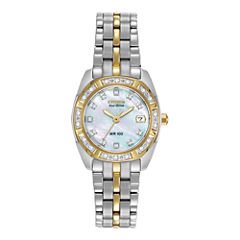 Citizen® Eco-Drive® Womens Diamond-Accent Watch EW1594-55D