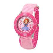Disney Sofia Kids Time Teacher Pink Fast Strap Watch