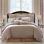 Royal Velvet® Battista 4-pc. Jacquard Comforter Set & Accessories