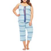 Ambrielle Capri Pajama Set-Plus