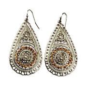 Bold Elements Orange Drop Earrings