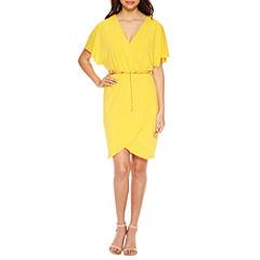 Jivago Short Sleeve Embellished Blouson Dress