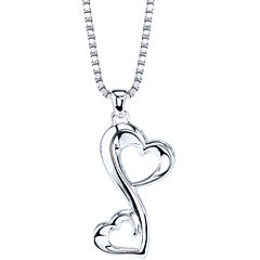 Love Grows™ Sterling Silver Double-Heart Pendant Necklace