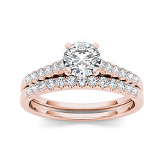 tw diamond 10k rose gold bridal ring set - Jcpenney Jewelry Wedding Rings
