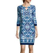 Tiana B. 3/4-Sleeve Shift Dress