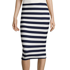 by&by Slim-Fit Stripe Pencil Skirt
