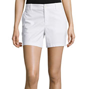 Liz Claiborne® Stretch Twill Shorts - Tall