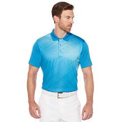 PGA TOUR Pro Series Short Sleeve Ombre Doubleknit Polo Shirt
