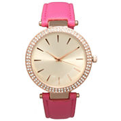 Olivia Pratt Womens Pink Strap Watch-16257
