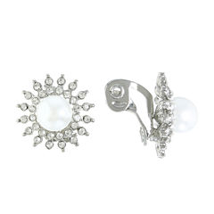 Monet Jewelry The Bridal Collection Clip On Earrings