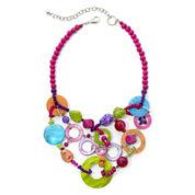 Aris by Treska Multicolor Shell Bib Statement Necklace