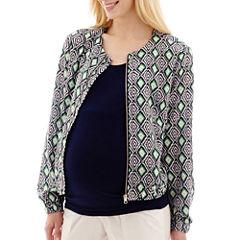 Maternity Print Bomber Jacket