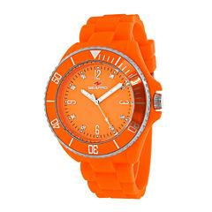 Seapro Sea Bubble Womens Orange Silicone Strap Watch