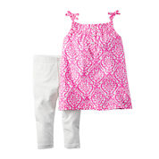 Carter's® 2-pc. Purple Geo-Print Top and Leggings Set - Baby Girls newborn-24m