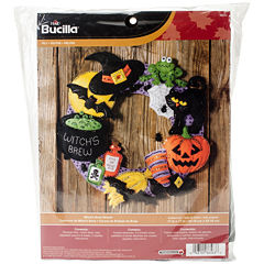 Witch's Brew Wreath Felt Appliqué Kit