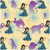 Disney Princess Jasmine Holding Lamp Cotton Fabric - 15 Yards
