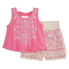Knit Works 2-pc. Short Set Girls