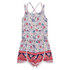 My Michelle Sleeveless Romper - Big Kid