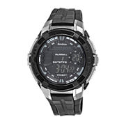 Armitron® Mens Black Round Chronograph Digital Sport Watch 40/8350BLKJ