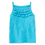 Okie Dokie® Ruffle Tank Top - Girls newborn-24m