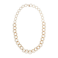 Monet® Gold-Tone Circle Long Link Necklace