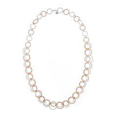 Monet® Two-Tone Circle Long Link Necklace