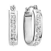 Diamond Fascination™ 14K Gold U-Hoop Earrings