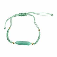Bridge Jewelry Womens Green Stretch Bracelet
