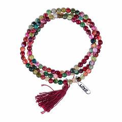 Bridge Jewelry Womens Red Silver Over Brass Wrap Bracelet