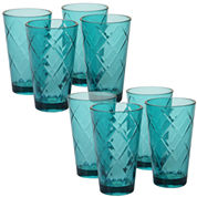 Certified International Acrylic Ice Tea Tumbler Glass