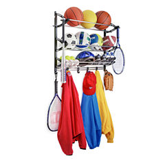 LYNK® Sports Rack with Adjustable Hooks