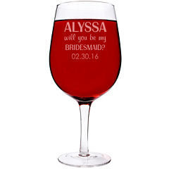 Cathy's Concepts Personalized Will You Be My Bridesmaid? 25 oz. Xl Wine Glass