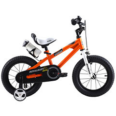 RoyalBaby Kids Orange BMX Freestyle Bicycle with Training Wheels