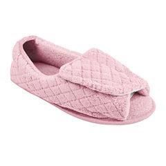 MUK LUKS® Adjustable Open Toe Micro Chenille Slippers