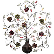 Floral Metal Hanging Wall Decor