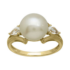 Certified Sofia™ Cultured Freshwater Pearl 10K Gold Ring