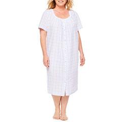 Adonna Short Sleeve Jersey Robe-Plus