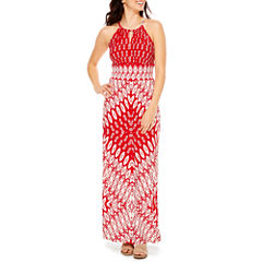 London Style Sleeveless Maxi Dress