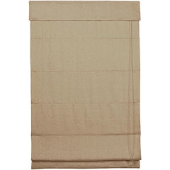 Linen Roman Shade with Inaccessible Cord