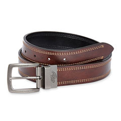 Dickies® Reversible Leather Contrast Stitch Belt